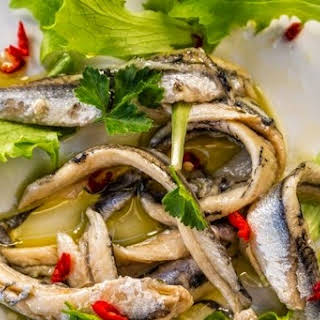 Marinated Fresh Anchovies (Alici Marinate).