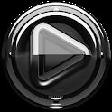Poweramp skin Black Glas delux icon