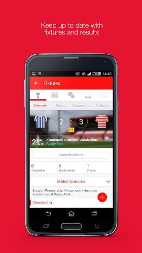 Fan App for Hamilton Accies