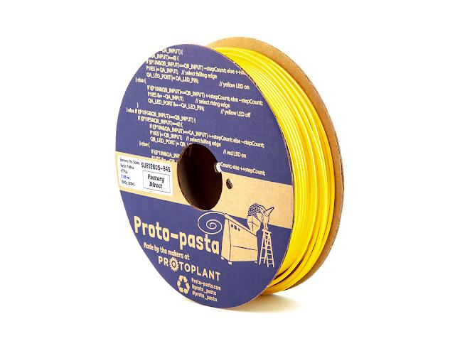 "Proto-Pasta ""Banana for Scale"" Satin Yellow HTPLA - 2.85mm (0.5kg)"