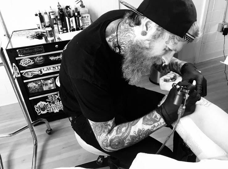 Karl Otto tattooing