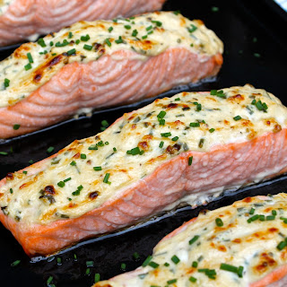 Parmesan Crusted Salmon.