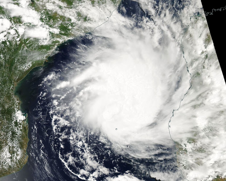 An image of Tropical Storm Dineo just off the Mozambique coast. Picture: NASA