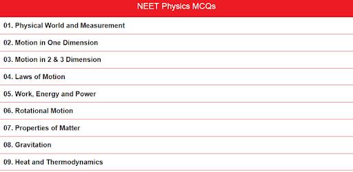 NEET Physics MCQs - Apps on Google Play