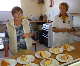 Photo: Shirley & Tricia offer some lovely sponge cakes.