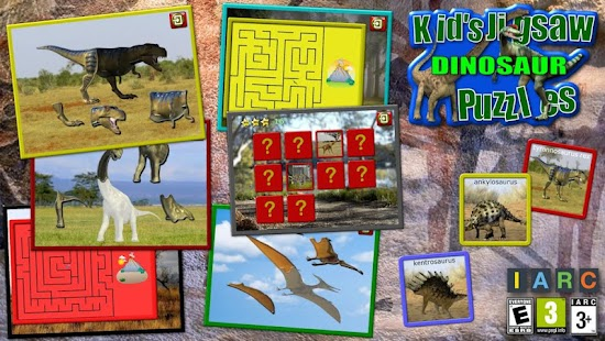 Kids Dinosaur Puzzles- screenshot thumbnail