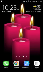 Red Candles Beauty LWP 3 Download Mod Apk 2