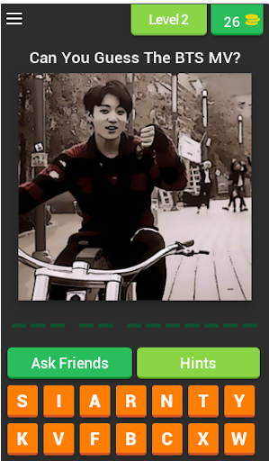 Guess The BTS's MV by JUNGKOOK Pictures Quiz Game 3.4.6z screenshots 4