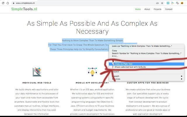 Simple Plain Text Copy