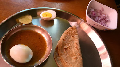 Photo: Egg curry is one of my most favourite dishes in India. While we eat meat and fish less frequently than the opportunities we have in Japan, eggs are easiest and yummiest sources of protein. The photo shows egg curry prepared by my husband. 30th January updated -http://jp.asksiddhi.in/daily_detail.php?id=439