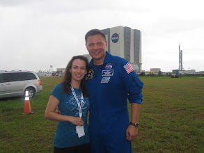 Photo: With test pilot and NASA Astronaut Doug Wheelock