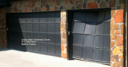 Photo: Cedar Park Overhead Doors. This is an beautiful house with the old stuff. See the after photo. 512-335-7441