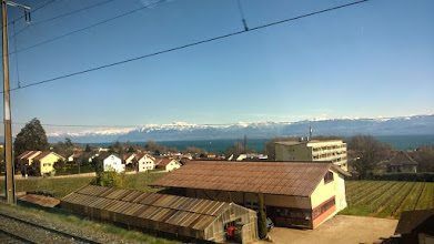 Photo: Passing through nice landscape on my way home to Sissach with the train from Geneva. Full of nice memories from this Easter.