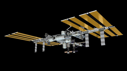 Artist s rendering of the International Space Station as of April 27, 2012.