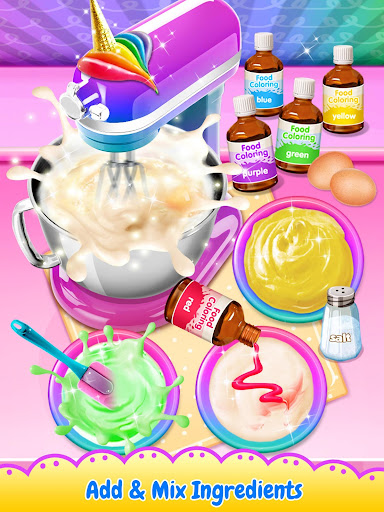 Unicorn Poop - Sweet Trendy Desserts Food Maker 1.5 screenshots 1