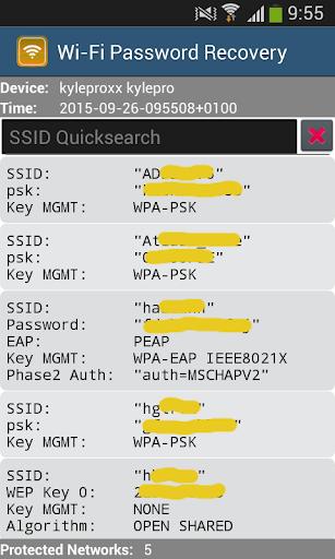 كشف كلمة السر wifi - root