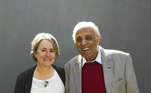 Committed: Sahm Venter with Ahmed Kathrada. Their friendship shines through in a book that has distilled the essence of the struggle icon. Picture: SUPPLIED