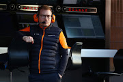 McLaren Team Principal Andreas Seidl looks on from the pitwall during Day Two of F1 Winter Testing at Circuit de Barcelona-Catalunya on February 27 2020 in Barcelona, Spain.