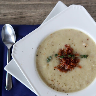Roasted Cauliflower + Bacon Soup