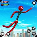 Spider Stickman Rope Superhero : Stickman Games icon