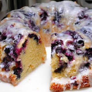 Blueberry Pound Cake.