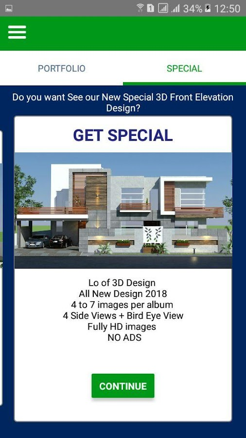3D Front Elevation .co- screenshot