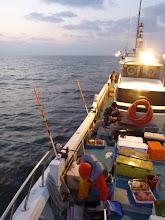 Photo: 先週は「潮」に泣かされた、ウキ流し真鯛釣り! 今日はいい潮の流れでありますように・・・。