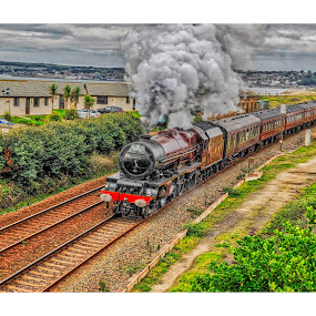 The Express by Cornish Nige  - Transportation Trains ( beauty, nostalgic, hdr, steam trains, smoke, history, railways )