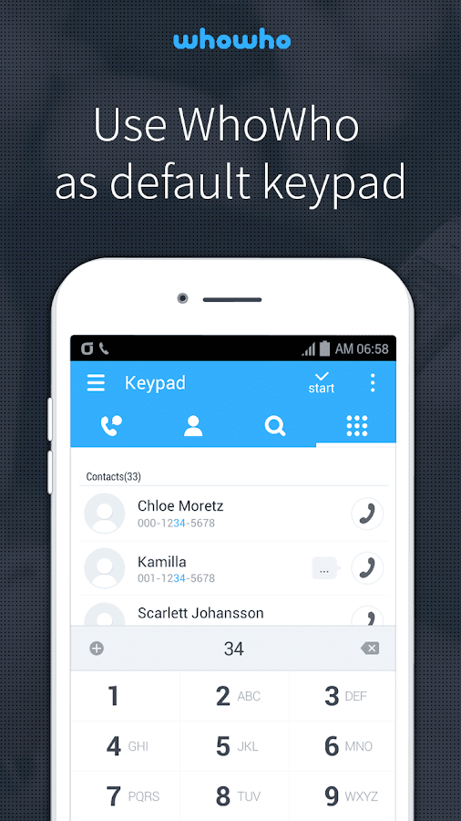 whowho - Caller ID & Block- screenshot
