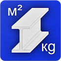 Metal Calculator. Steel Weight & Paint Area icon