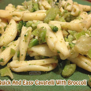 Quick And Easy Cavatelli With Broccoli #recipe.