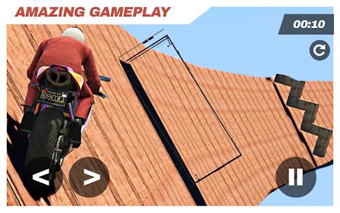 Moto Bike Racing: Stunts Game Impossible Tracks 3D - náhled