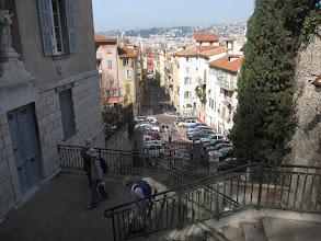 Photo: ... climbing the Coline du Chateau for views of the city, including old Nice and its harbor.