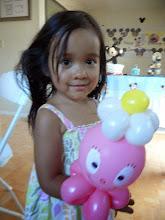 Photo: Little girls love balloon characters.Book Heidi by calling 888-750-7024