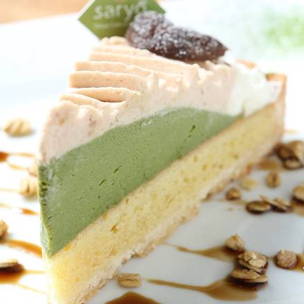 Mont Blanc Chestnut Green Tea Mousse Cake