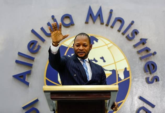 Alleluia Ministries Pastor Alph Lukau at his main church in Sandton.