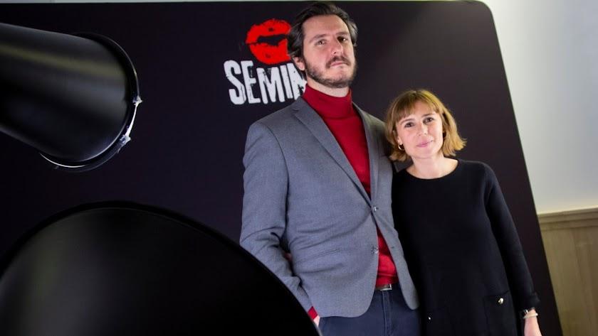 Miguel Larraya y Andrea G. Bermejo, directores del documental, en la Seminci de Valladolid.