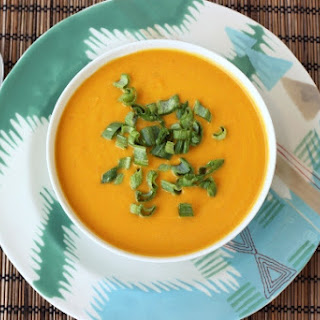Chilled Carrot Ginger Coconut Soup – Vegan + Gluten-Free.