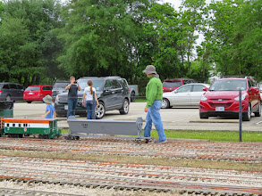 Photo: Tomas and Cinco Sandoval getting their caboose out.    HALS Public Run Day 2015-0418 RPW