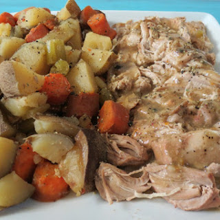 Italian Pork Tenderloin and Potatoes in Crockpot