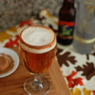 Pumpkin Vanilla Cocktail with Spiced Sugar Rim