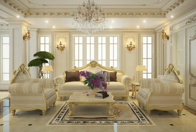 Kết quả hình ảnh cho thiết kế nội thất chung cư nhỏ phong cách tân cổ điển
