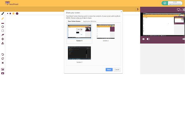TeachHoot Screen Sharing