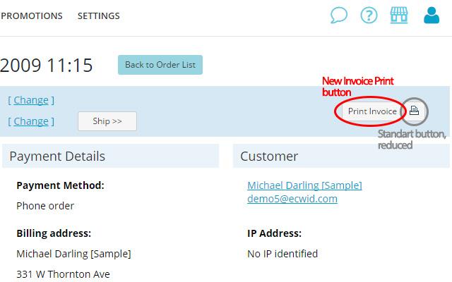 smartMart: Ecwid custom invoice print