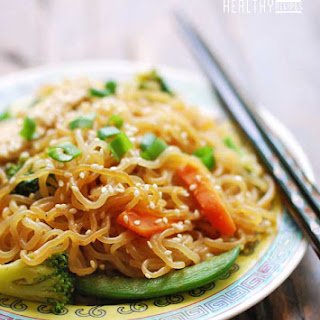 Lo Mein Noodles with Peanut Sauce