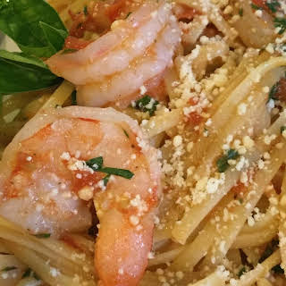 Easy Stove-Top Shrimp and Pasta.