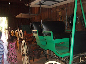 Photo: carriages inside Lowe's Barn