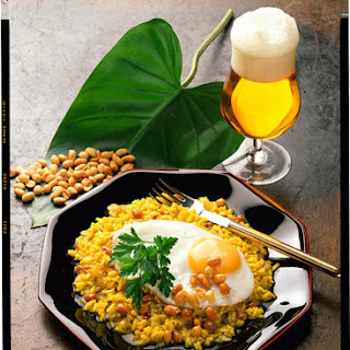Spiced Rice with Peanuts and a Fried Egg