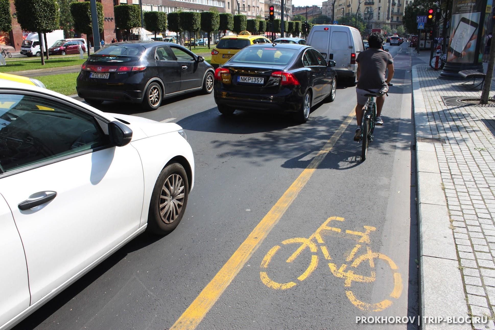 Велодорожки в Будапеште