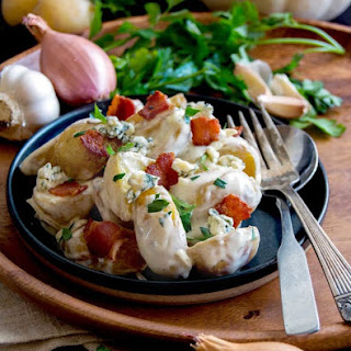 Warm Potato Salad with Blue Cheese and Bacon Recipe